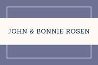 Bonnie & John Rosen